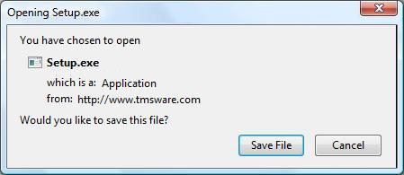 You will see a dialog screen similar to this - Choose Save :